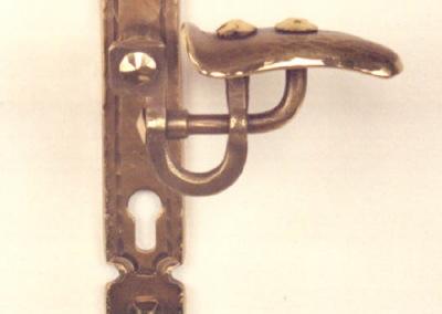 Türgriff geschmiedet,  Türdrückergarnitur aus Bronze geschmiedet, Nr. 200310