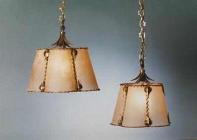 geschmiedete Pendelleuchte in Messing, rustikale Lampe,SONTHOFEN KETTE ,oval,650x450mm, Nr. 82230, 82231