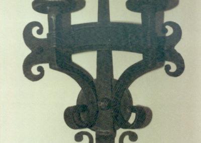 Fackelleuchte in Eisen, 2-flg., Wandleuchte geschmiedet, Nr. 84076