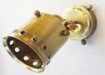 Messing Spot geschmiedet,Nr. 84234 STRAHLER Schirmrand gelo., dreh-u.schwenkb.,1-flg.,Ms,Dm80mm