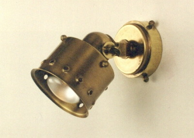 """wall-lamp""""Strahler"""", 1-flam,brass, turned and pivoted, 84235"""
