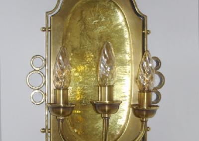 Messing Wandleuchte Dölsach 3-flammig,, aufwendig geschmiedete Wandbeleuchtung, Nr. 84280