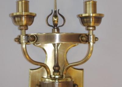 handgefertigte Wandbeleuchtung, Bruck 2-fammig  in Messing geschmiedet, rustikale Wandleuchte, Nr. 84309