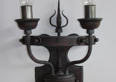 geschmiedete Wandbeleuchtung, Bruck 2-fammig , in Eisen, rustikale Wandleuchte, Nr 84310