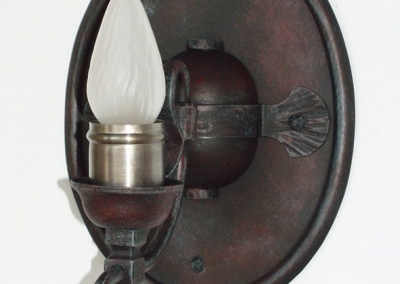 Eisen Wandleuchte, Neusiedl 1-fammig geschmiedet, rustikale Wandleuchte, Nr. 84351