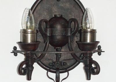 Eisen Wandbeleuchtung  Neusiedl 2-fammig , rustikale Wandlleuchte, handgeschmiedet, Nr. 84352