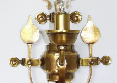 Messing Wandleuchte Velden 1-flammig, aufwendig geschmiedete Wandbeleuchtung, Nr. 84700