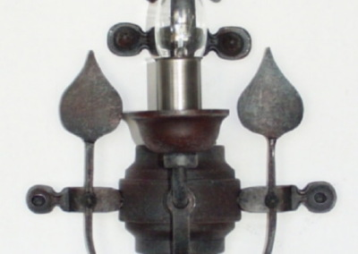 Eisen Wandleuchte, Velden 1-flammig, aufwendig geschmiedete Wandbeleuchtung, Nr. 84721