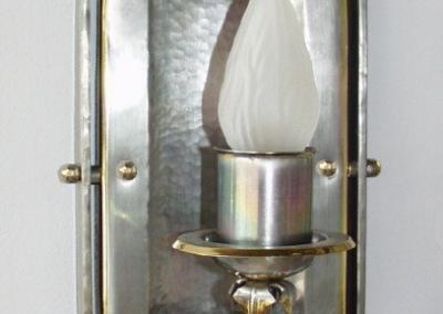 Wandbeleuchtung handgefertigt, ZELL WL,1-flg.,H:460mm,B:160mm,Messing, verzinnt, Nr. 84783