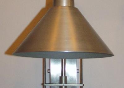 Aluminium Wandleuchte 1-flg.,GH:360 mm,Schirm-Dm:180mm, Nr. 84875