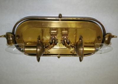 Deckenleuchte aus Schmiedebronze, handgefertigt Nr.85085 Zell DL, 2-flg., Ms, H: 460mm, B: 160mm,Nr. 85085