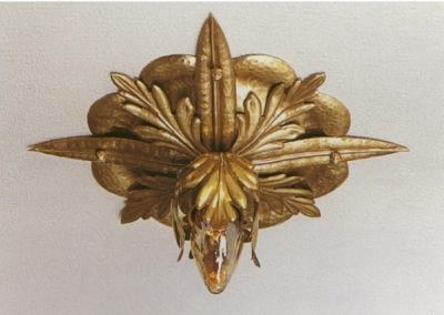 "ceilling-lighting""Deckenstern"" 1-flam,brass, diameter:250 mm, Nr. 85211"