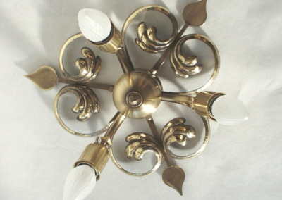 Messing  Deckenlampe, geschmiedet,DECKENSTERN WEISSENSEE 3-flammig,Dm: 300mm, Nr. 85225
