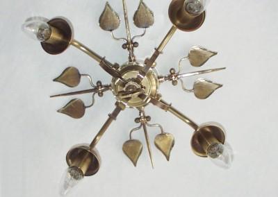 geschmiedete Deckenleuchte, Messing, aufwendig VELDEN Deckenlampe, 4-flg., Dm 400mm, Nr. 85700