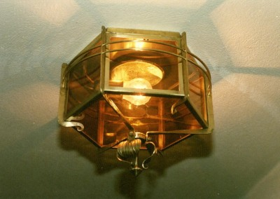 "ceilling-lantern""Arosa""1-flam,brass,6-angular,diameter:340mm"