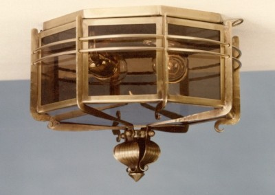 "ceilli.-lantern""Arosa""2-flames,brass,8-angular,diameter360mm, Nr. 90132"