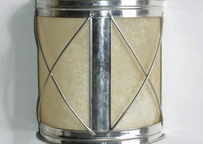 Weißblech Laterne, handgefertigte Wandlaterne in Weißblech mit Rinder-Pergament, Laterne, Leuchte