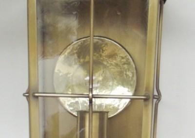 geschmiedete  Messing Wandlaterne Weiz, GH: 60 cm, B:20 cm, Nr. 90519
