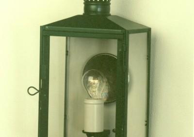 Heurigen Wandlaterne Villach in Weißblech, Oberfläche: grün, H: 47cm, B:24 cm, Nr. 905825