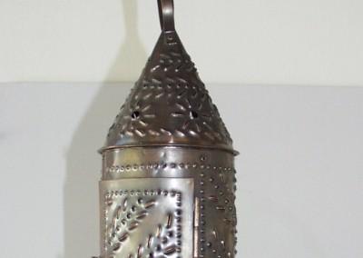 handgefertigte Gotik Hängelaterne in Kupfer, handgefertigt, Dm.: 130 mm,H: 330 mm, Laternen, Nr. 90755
