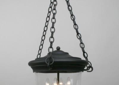 Hängeleuchte, Versailles in Eisen schwarz Glimmer, 4-flg., Nr. 90796