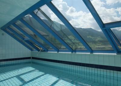 Alukonstruktion für Schwimmbad