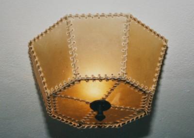 Deckenleuchte Pergament, Transparentleder