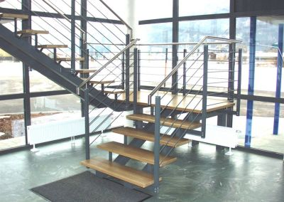 Stahl/Edelstahl Stiegekonstruktion
