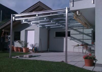Balkonüberdachung - Stahl/verzinkt