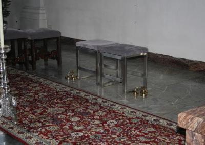 Sitzbänke für Altarraum - Edelstahl gebürstet, Kircheneinrichtun