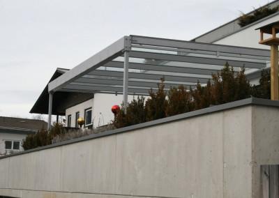 Balkonüberdachung Stahl/TVG Glas/ feuerverzinkt/ beschichtet
