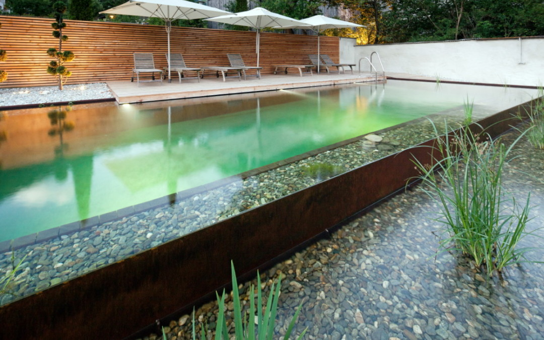Cortenstahl –  Schwimmteich