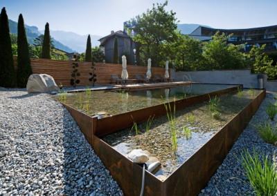 Cortenstahl - Pool aus Cortenstahlbecken