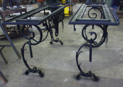 geschmiedete Tischgestelle