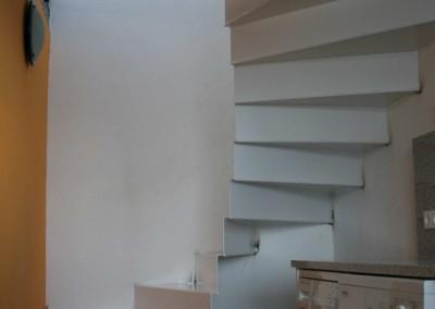Wendel Stiegen-Konstruktion aus Stahlblech roh/beschichtet