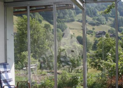 Balkonüberdachung  - Windschutz Stahl/verzinkt/TVG Glas