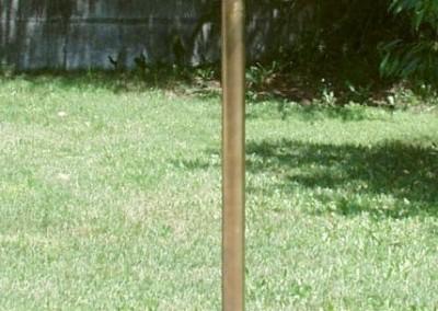 Mastlaterne Messing, geschmiedet, Weiz, GH:1700 mm, Lat: H:500mm,B:210 mm, Nr. 90521