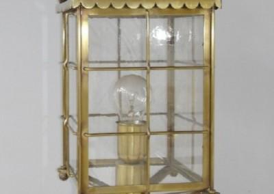 geschmiedete Socklaterne, Katschberg in Messing, GH: 56 cm, B:20cm, Nr. 90531