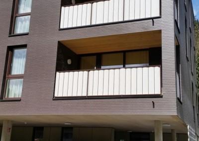 Geländer mit Rundstaben, Eisen, Oberfläche: pulverbeschichtet