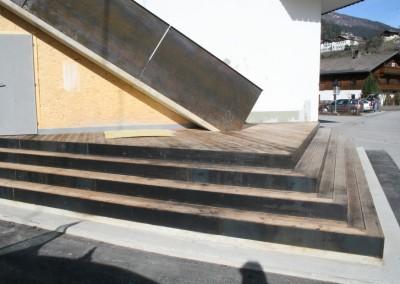 Stiegenkonstruktion Eisen roh