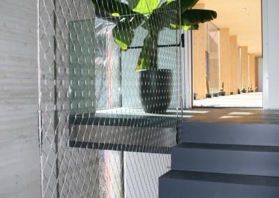 Geländer aus Edelstahl Netz
