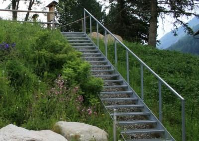 Treppenkonstruktion, Eisen/ verzinkt