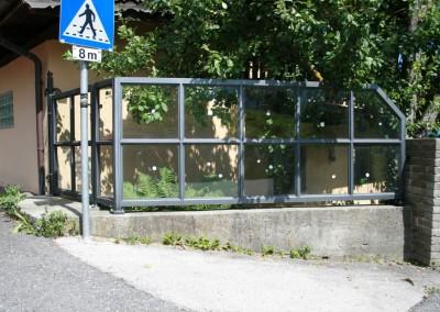 Zaun Glas /Eisen, Oberfläche: pulverbeschichtet
