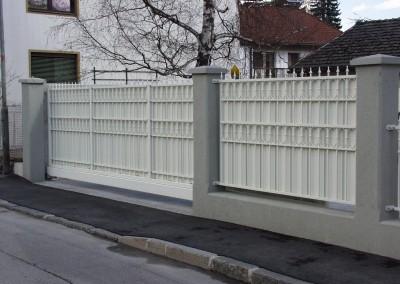 Tor und Zaun geschmiedet