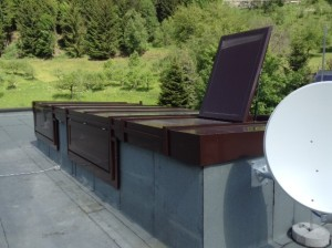 Dachfensterkonstruktion - wärmegedämmten Aluprofilen