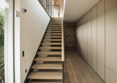 Metall / Glas / Holz Stiegenaufgang