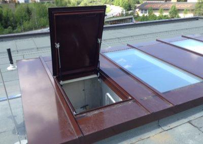 Alu-Glas-Dach