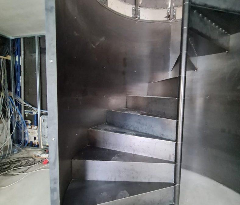 Wendeltreppe aus Metall